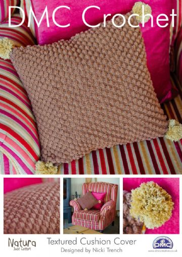 Textured Cushion Cushion DMC Crochet Pattern.